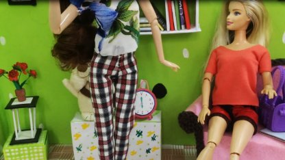 How to make doll pants Cách may...
