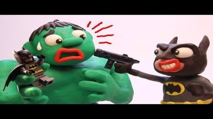 Funny Play Doh Stop Motion Hulk vs...