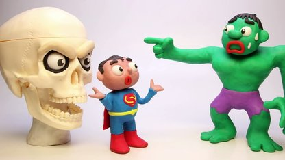 Funny Play Doh Stop Motion Hulk Giant...