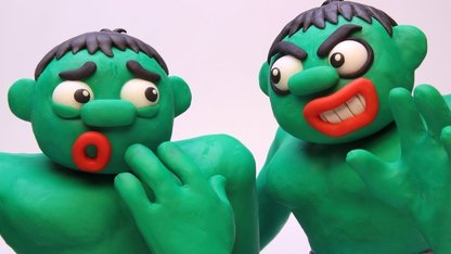 Play Doh Stop Motion Hulk Bad Baby...