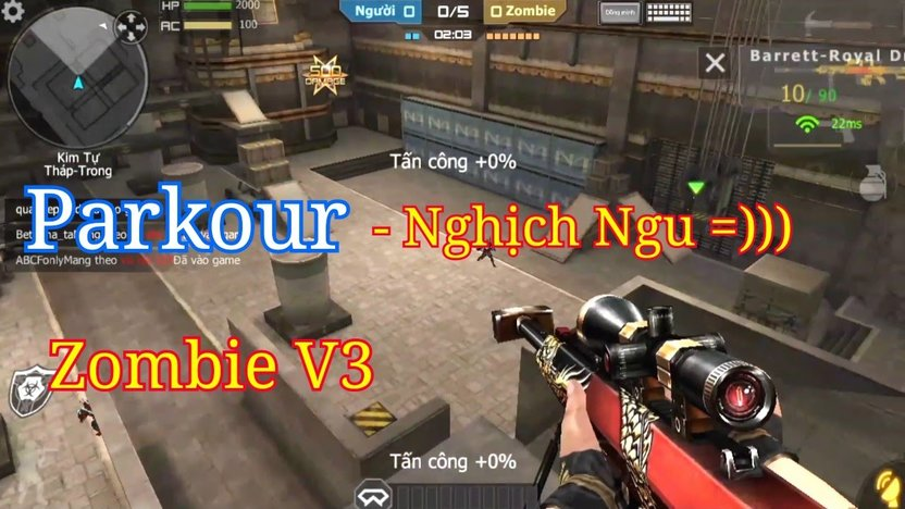 CF Mobile/CF Legends | Thẩm Du Cùng 3Z Royal Dragon Trong Zombie V3 - Hero  Parkour =)))