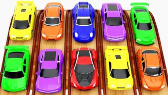 Learn Colors with Sports Cars Giant...
