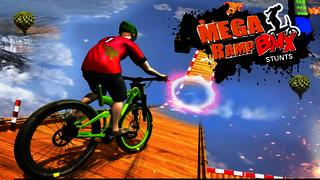 BMX Racing Mega Ramp Stunts BMX Bike...
